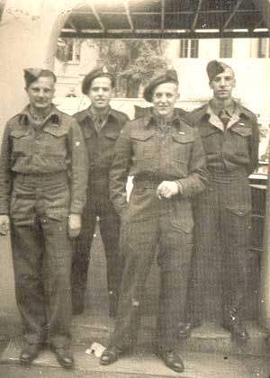 John Connolley (second from left) on leave in Cairo, late 1945