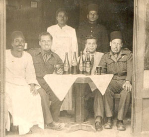 John and Jock on leave in Cairo, Egypt, late 1945