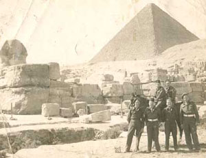 The Pyramids at Giza, near Cairo, Egypt, late 1945