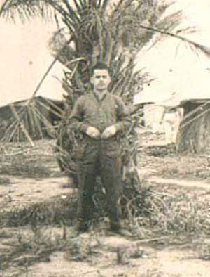 John Connolley photographed at 61st BGH, Shaiba, near Basra, Iraq in 1942
