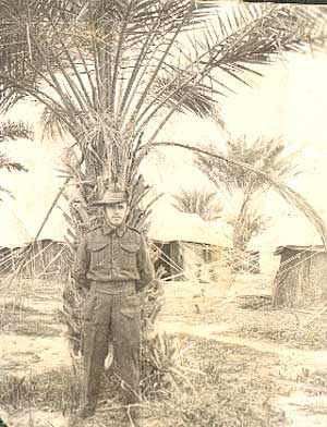 John Connolley in Shaiba, near Basra, Iraq in 1942