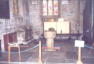 St Lawrence's church font