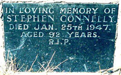 Stephen Connolley memorial inscription