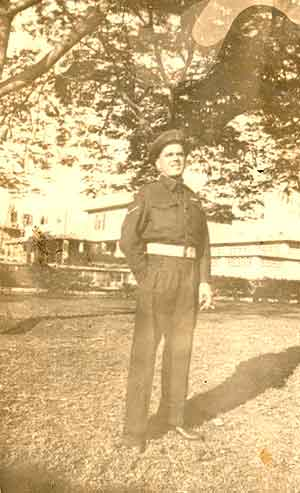 John Connolley,  awaiting demobilisation in Syria, 1945